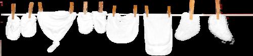 белье на вешалке