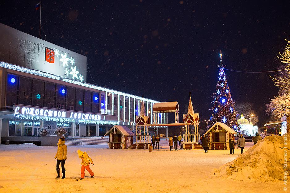Ледовый городок в Сестрорецке