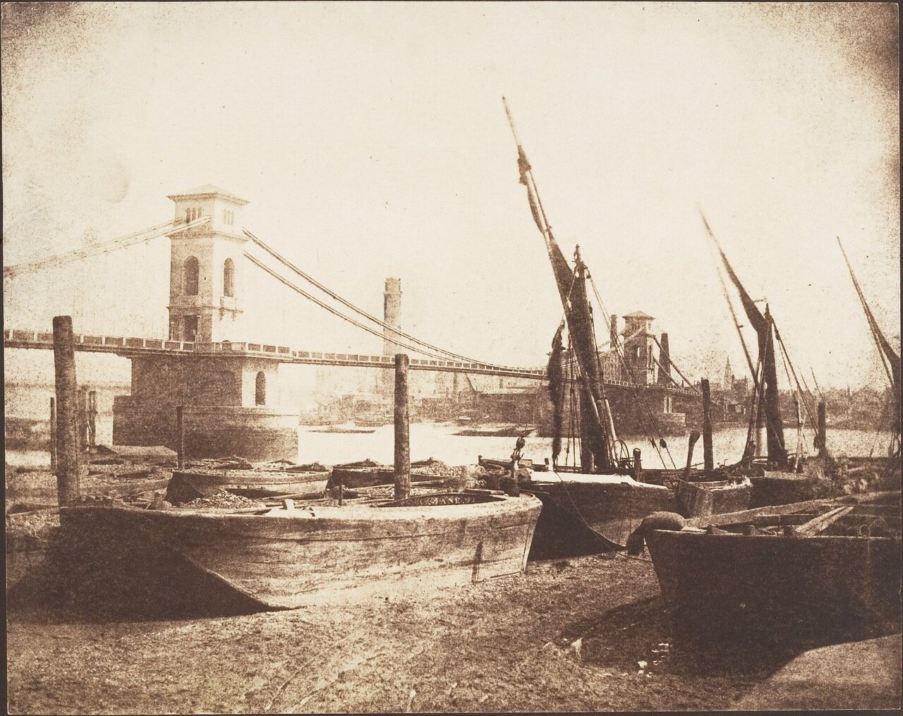 1845. Мост Хангерфорд в Лондоне