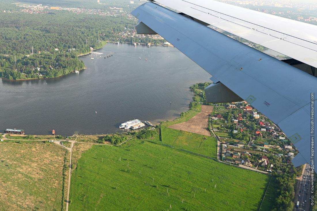 аэро фото съемка Клязьминское водохранилище теплоход М.В.Ломоносов
