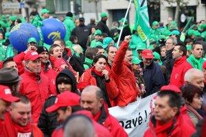 В Бельгии начались массовые забастовки