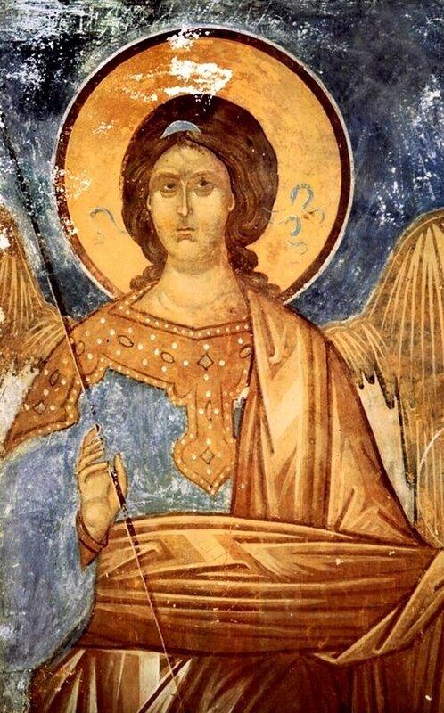 Архангел. Фреска Дионисия в соборе Рождества Пресвятой Богородицы в Ферапонтовом монастыре. 1502 год.