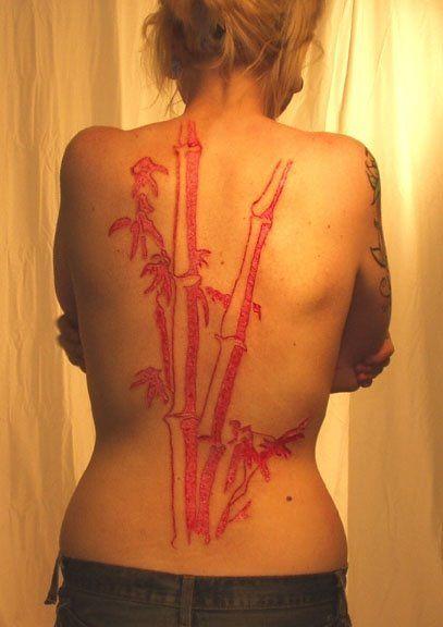 Нанесение на тело шрамов