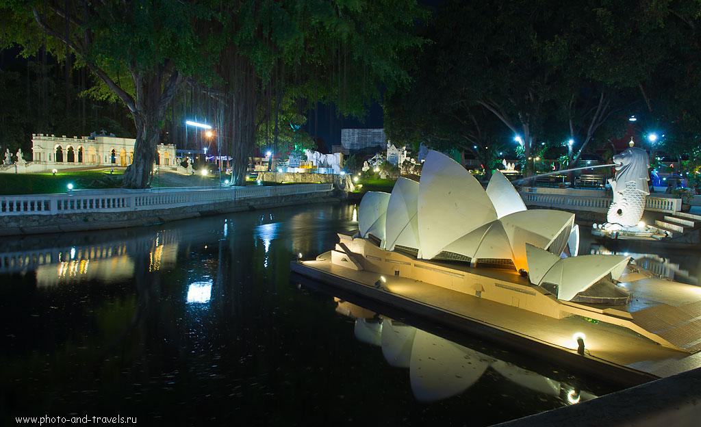 """19. Здание Сиднейской оперы в парке """"Мини-Сиам"""" В Паттайе. Поездка на отдых в Таиланд. Интересные места, что можно посмотреть самостоятельно."""