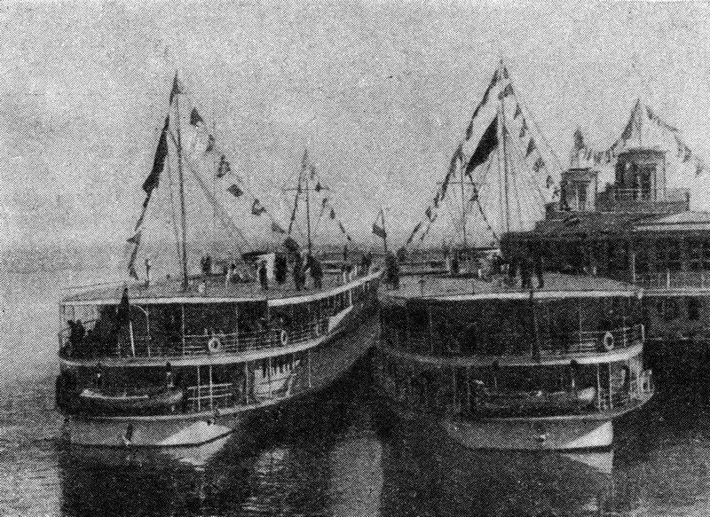 17 Пристань Большая Волга. Журнал 'Огонёк' 1937 №16-17 (20 июня). Фото П.Трошкина.jpg