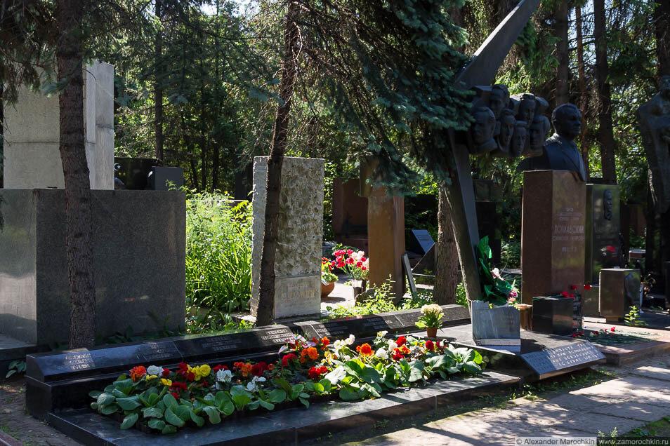 Могилы членов экипажа Ту-144 на Новодевичьем кладбище
