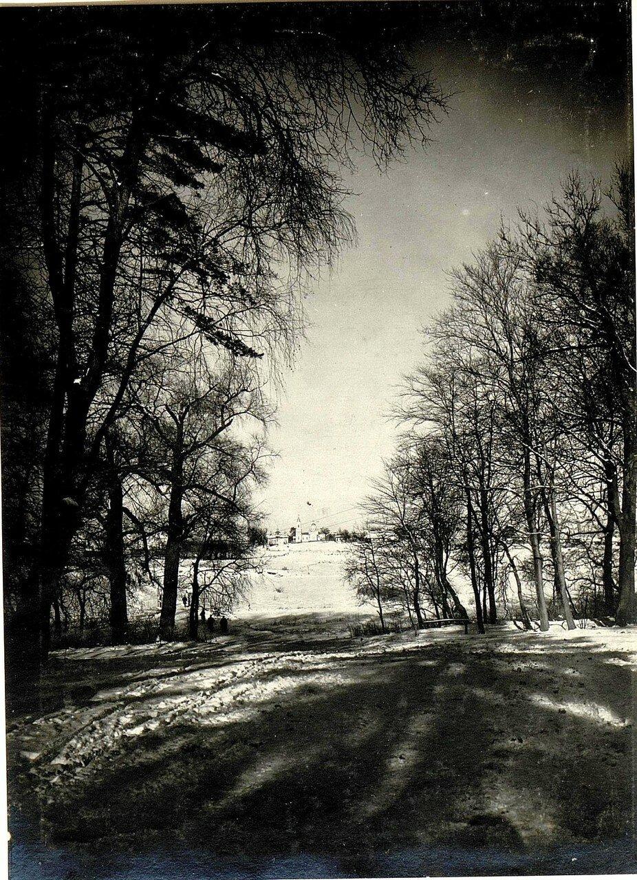 Острожец. Вид на село и церковь. 28 ноября 1915