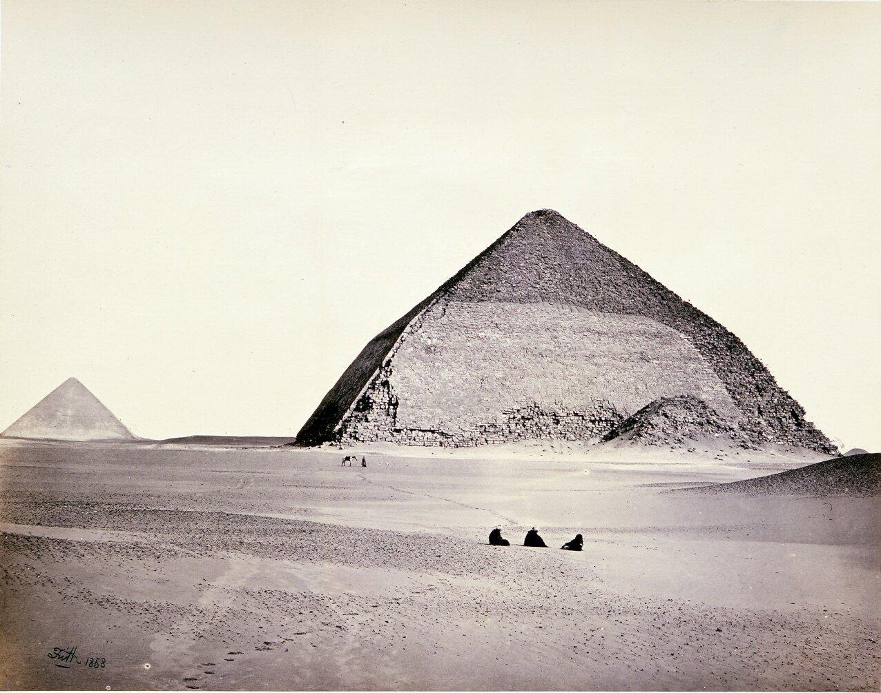 Дахшур. Пирамиды, вид с юго-запада. 1858
