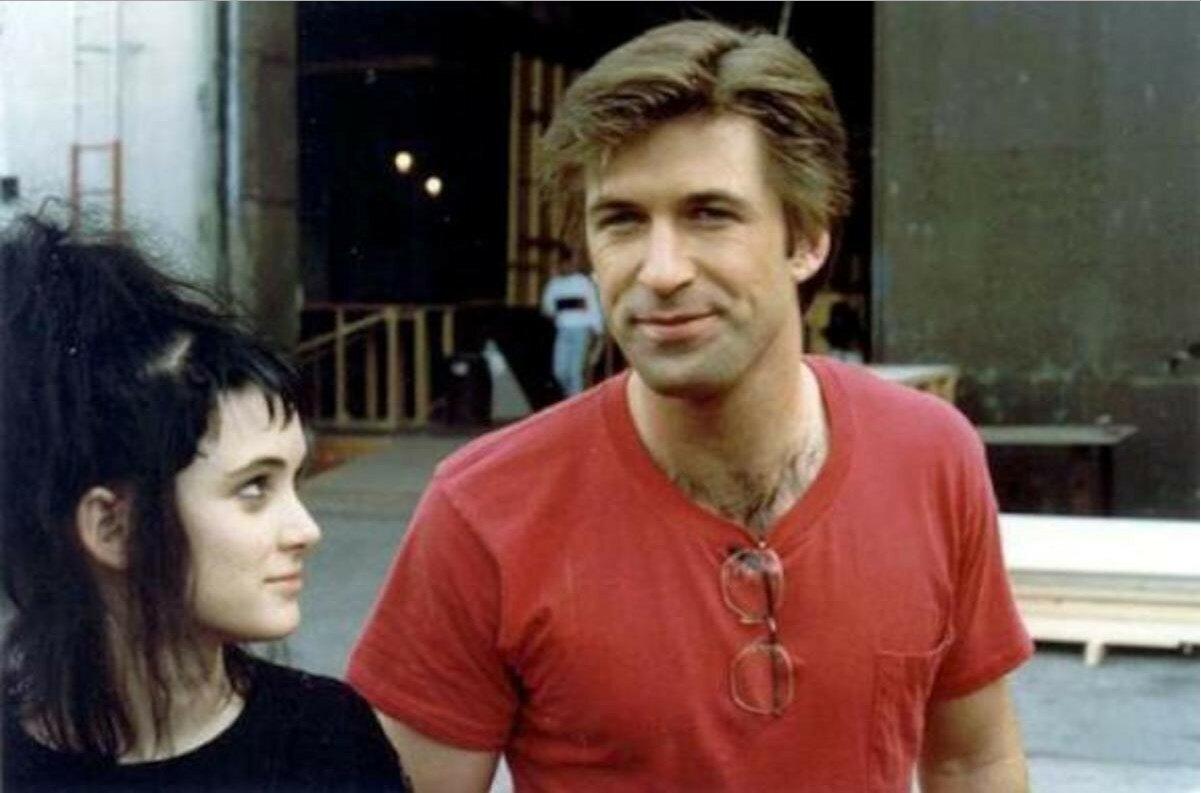 1988. Вайнона Райдер и Алек Болдуин на съемках «Битлджуса»