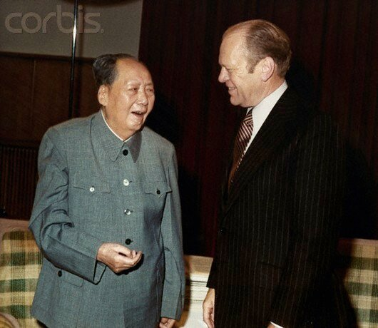 Gerald Ford Meeting Mao Tse-tung