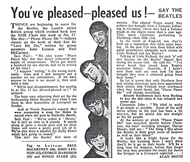 09 The Beatles - NME Article, February 1st, 1963.jpg