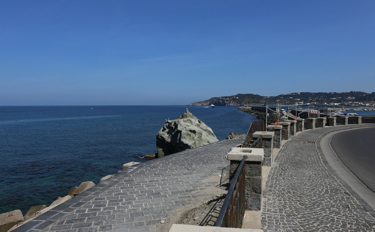 Ischia, Forio. The promenade of Christopher Columbus (Via Cristoforo Colombo)