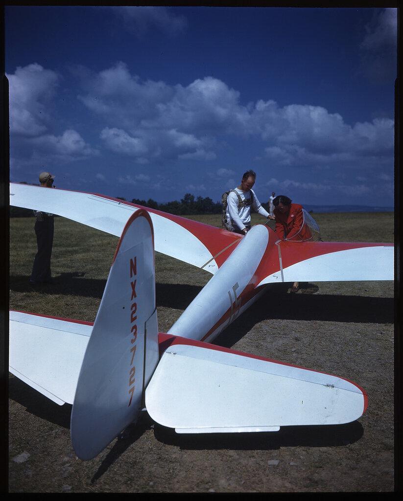 Kocjan Orlik II (Eagle) rn NX23727; aircraft No 15; sn 42-53519) on the ground