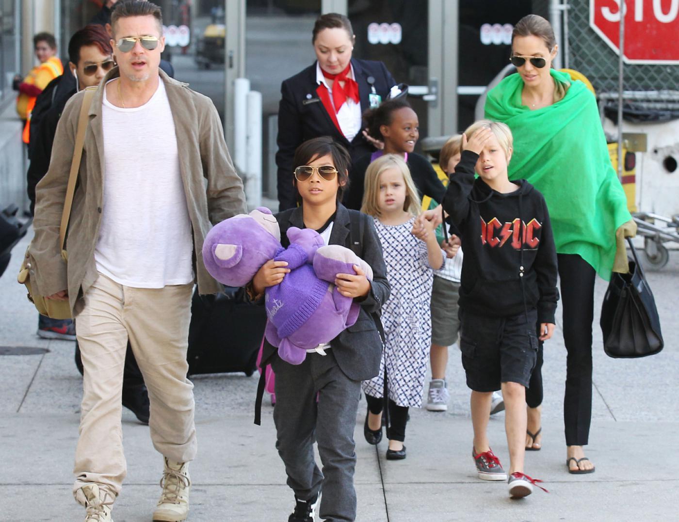 Брэд питт и анджелина и их дети фото