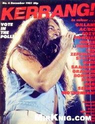 Журнал Kerrang! №6 1981