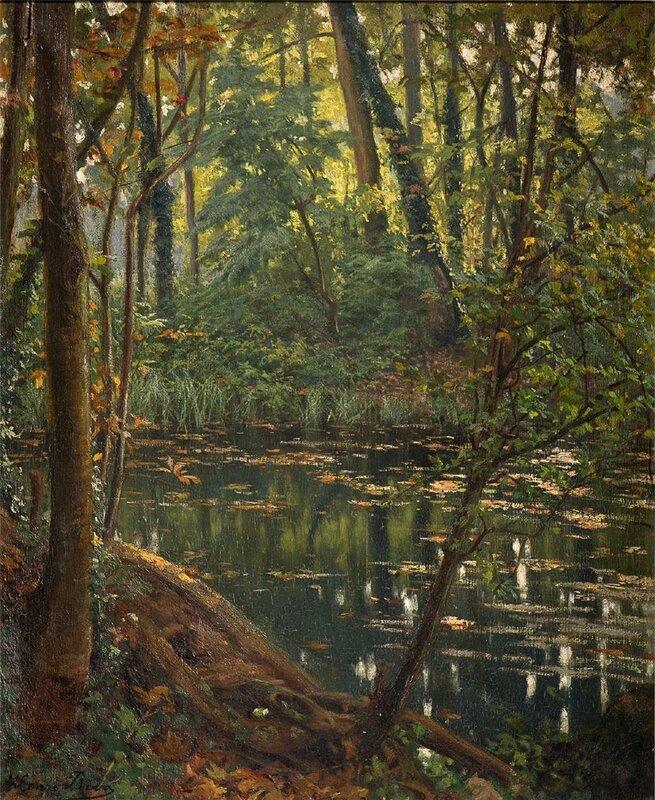 Над рекою деревья склонились, Отражаются в тихой воде