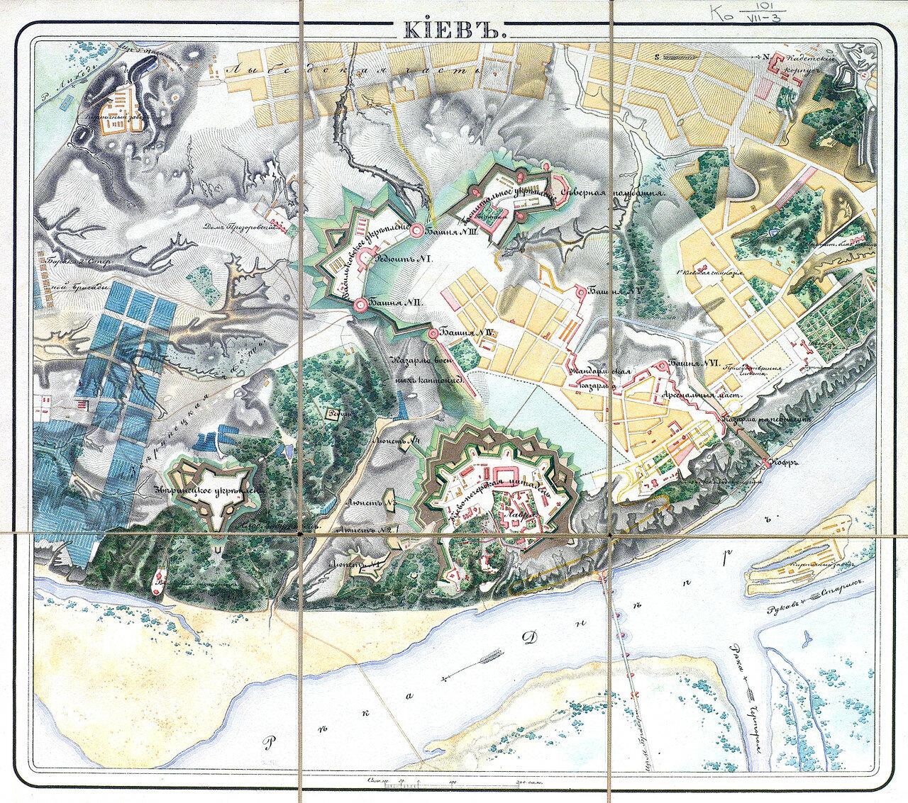 1833. Карта Киевской крепости