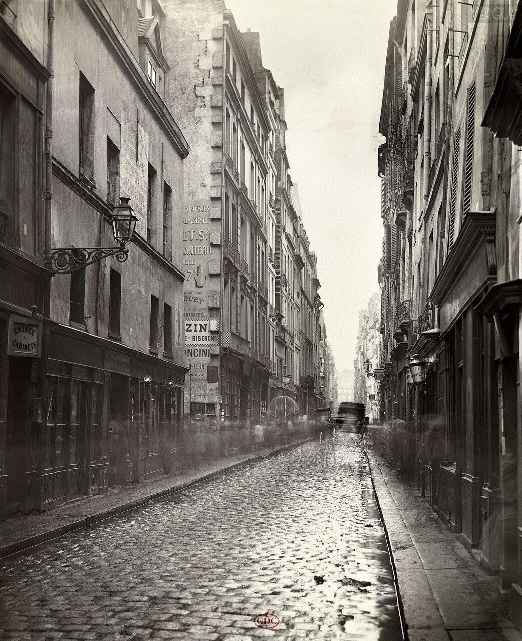 Рю Гравийе. 1865