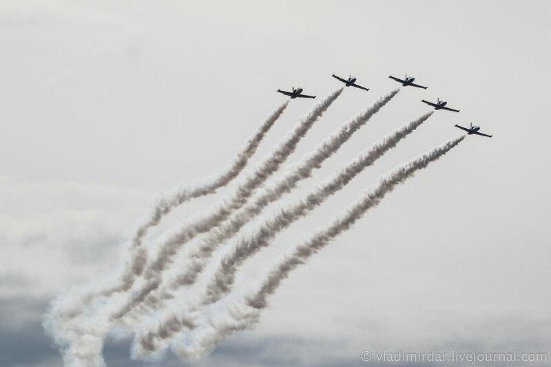 Пилотажная группа «Русь». L-39.