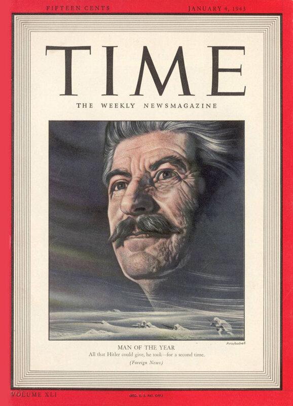Иосиф Сталин - человек года, журнал ТАЙМ, полководцы Красной Армии