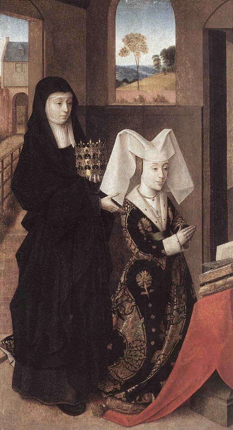 """Петрус Кристус. """"Изабелла Португальская со святой Елизаветой """" 1457"""