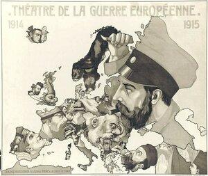 1915. «Театр европейских военных действий». Париж