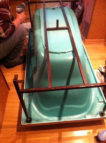 Подключаем ванну к рамке
