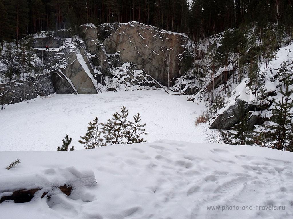 Фотография 17. Озеро Тальков камень зимой. Так фотографирует ультразум Sony Cyber Shot (100, 6.46 (36), 8, 1/20)