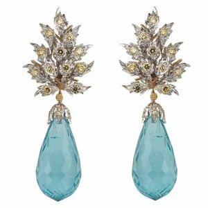 Buccellati - Aquamarine and diamond earrings