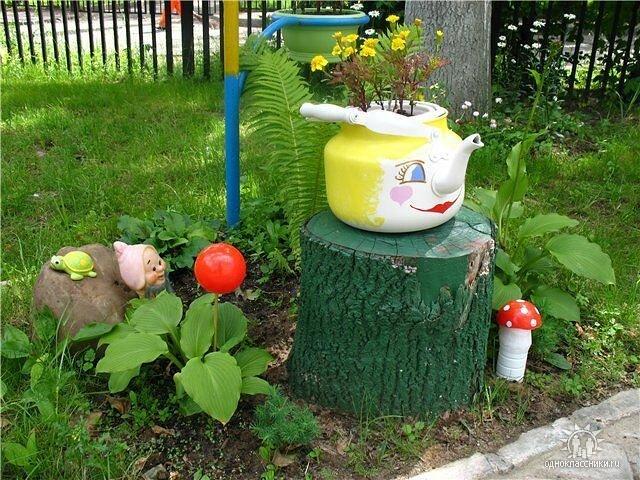 Поделки из старых вещей для сада (36 фото):…