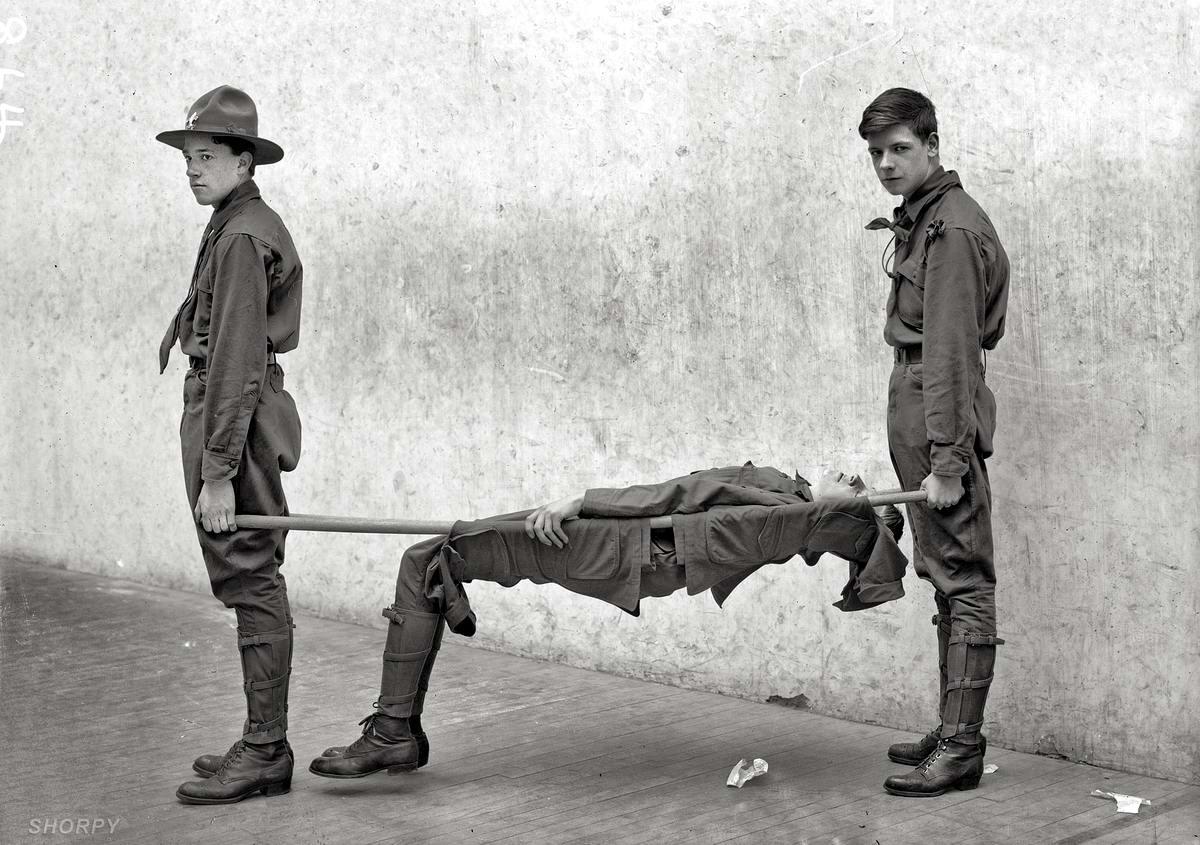 Американские бойскауты начала 20-го века на снимках фотографов (8)