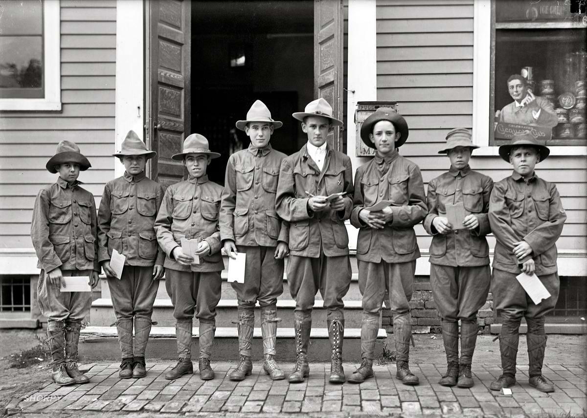 Американские бойскауты начала 20-го века на снимках фотографов (12)