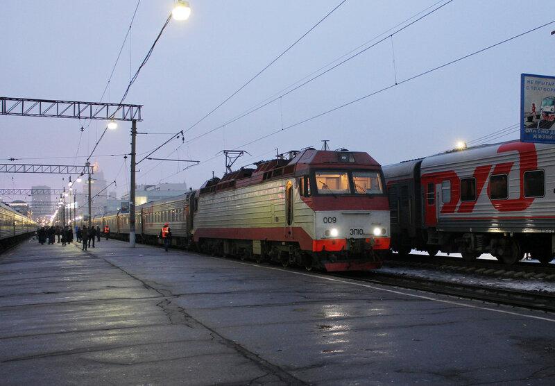 ЭП10-009 на Киевском вокзале