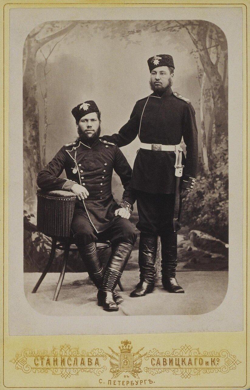 Портрет рядовых 1-й роты лейб-гвардии Преображенского полка М. Красовского и С. Бозыгина