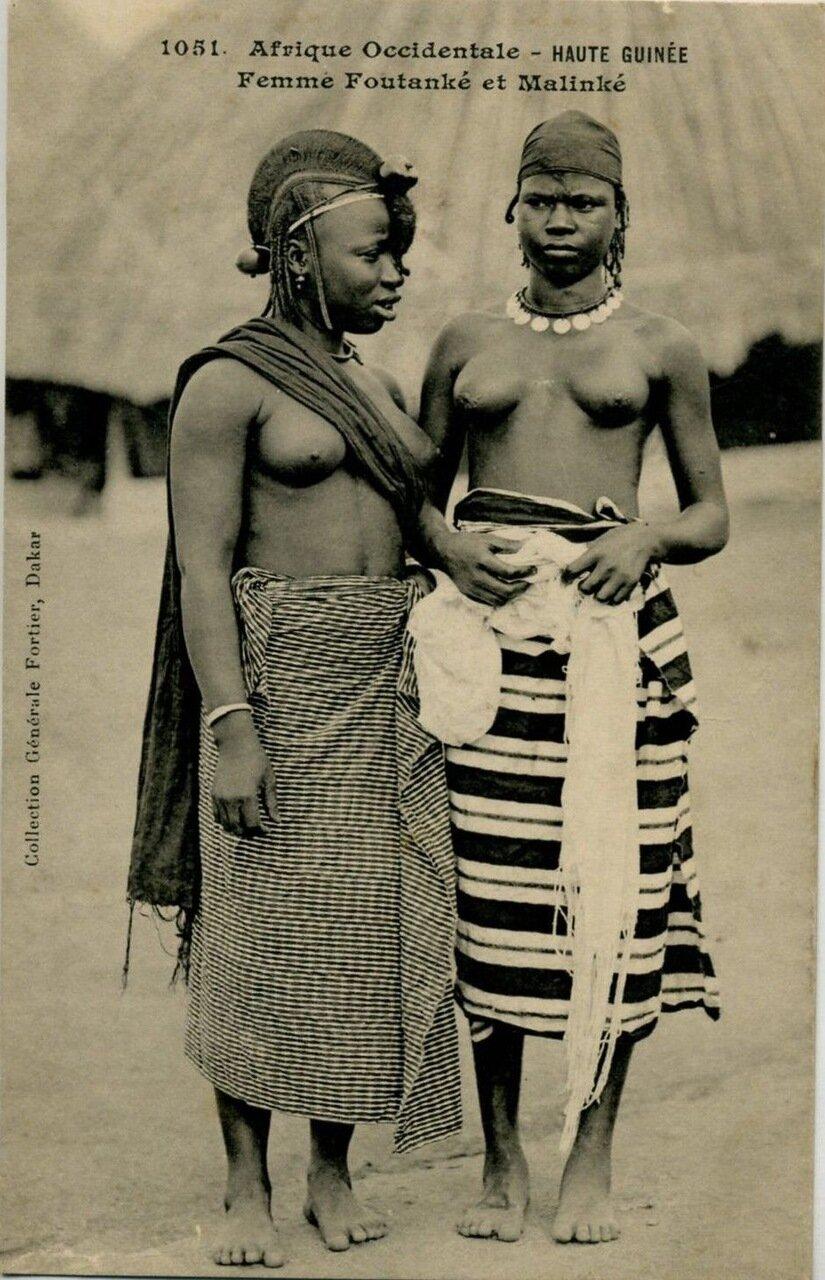 1910. Гвинея. Девушки народности малинке