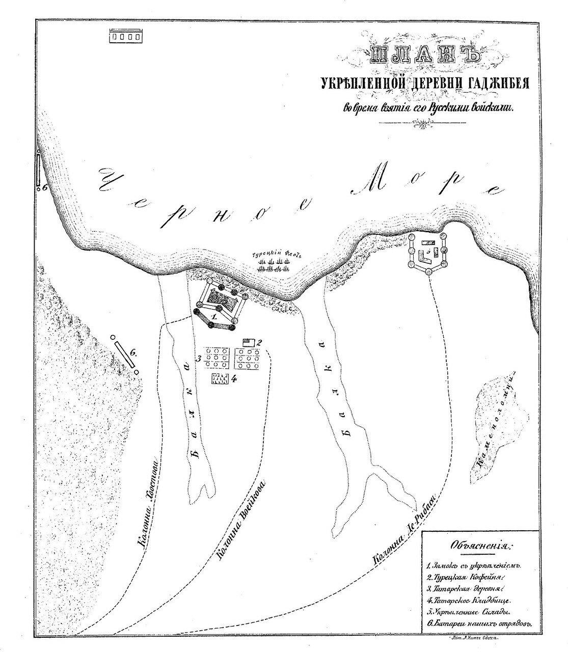 1789. План укрепленной деревни Гаджибея