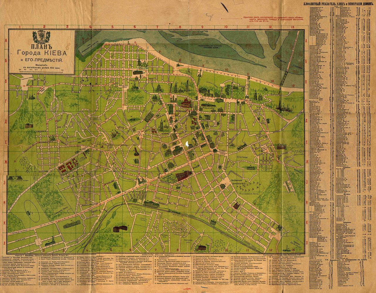 1912. План Киева и его предместий