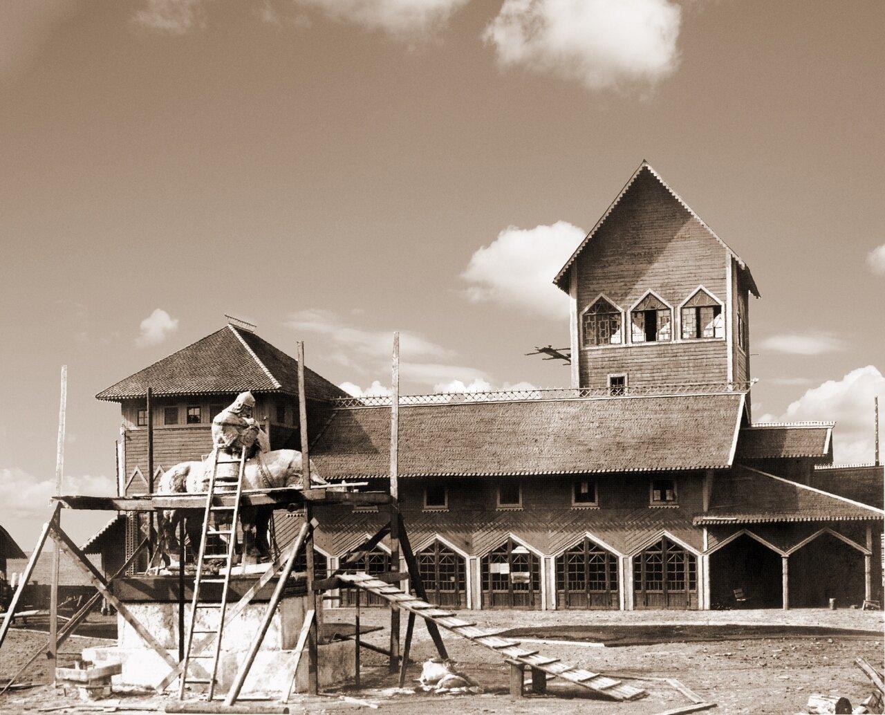 Строительство павильонов выставки