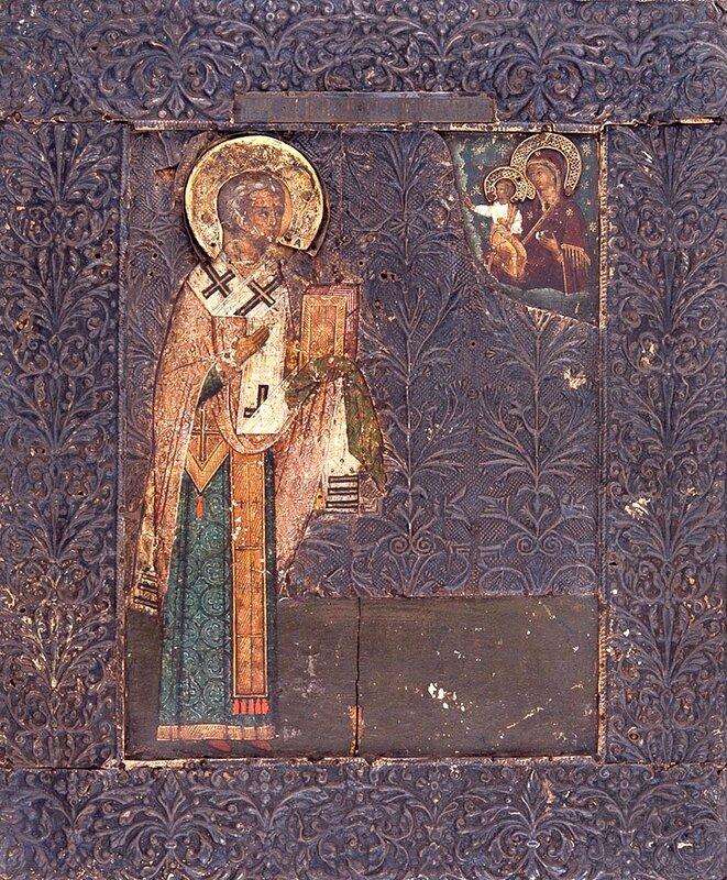 Святитель Никита, затворник Печерский, Епископ Новгородский. Икона. Россия, середина XVII века.