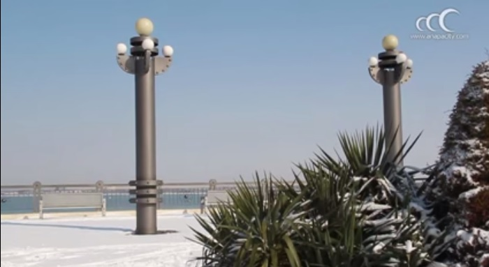 Город Анапа в снегу