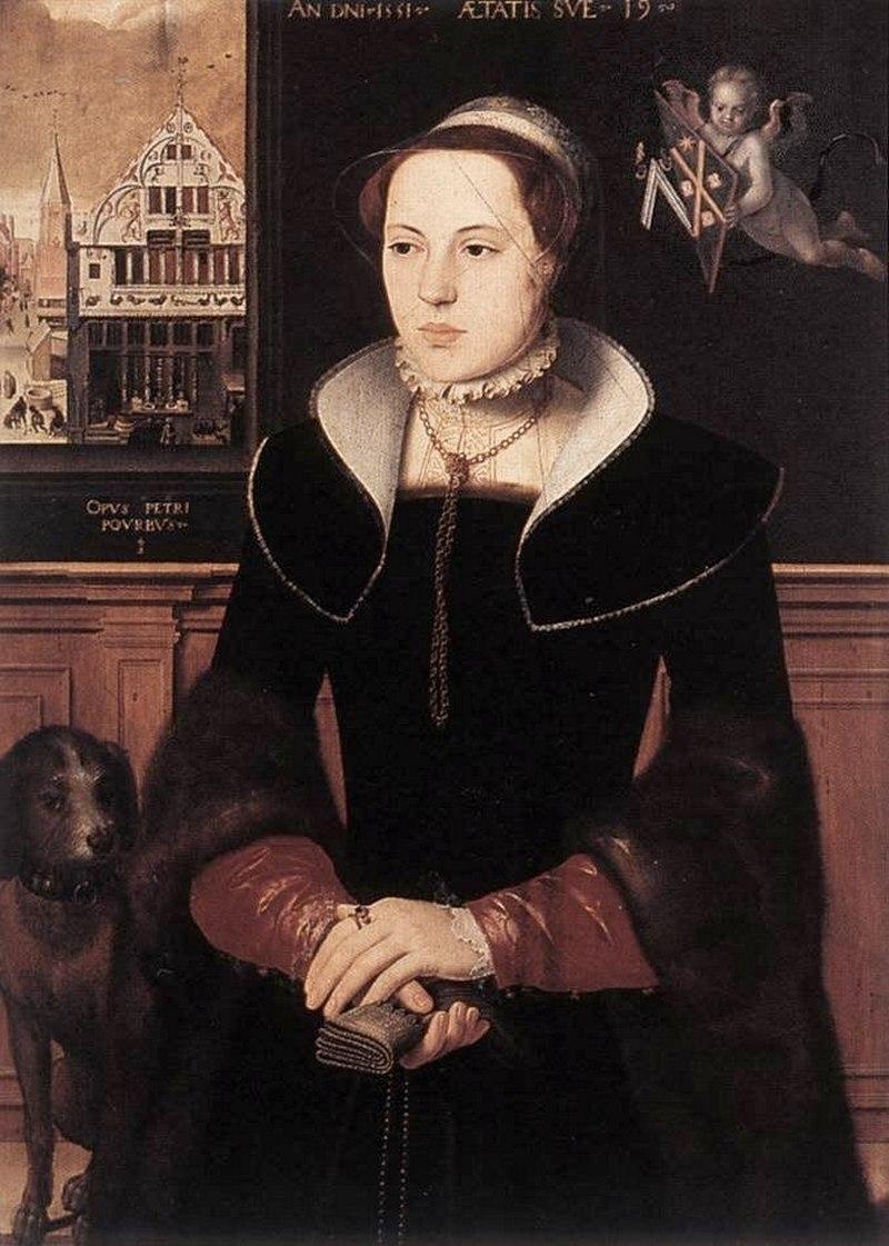 """Питер Порбус. """"Портрет Жакотины Бейк"""" 1551"""