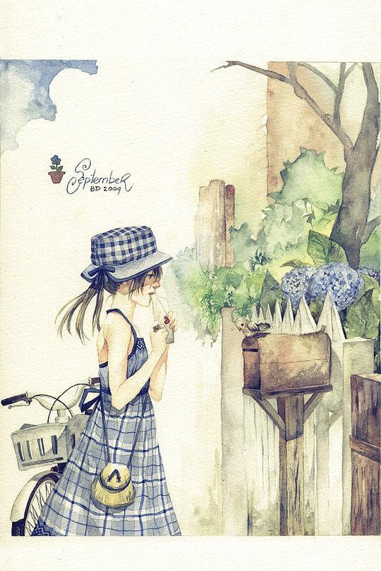 Аниме иллюстрации молодого и талантливого художника
