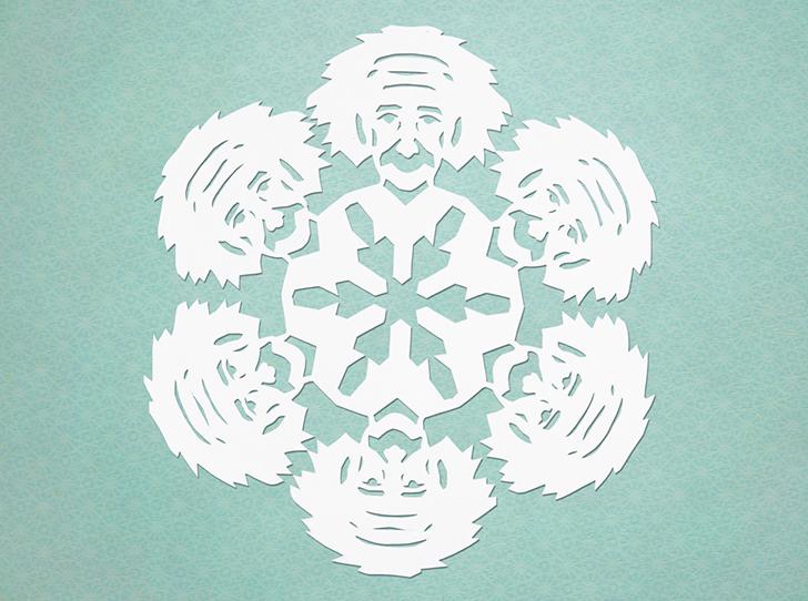 Альберт Эйнштейн Относительно макета этой снежинки ты — творец.