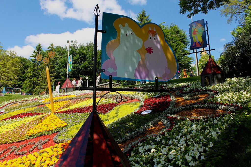 Цветочная инсталляция Швеция