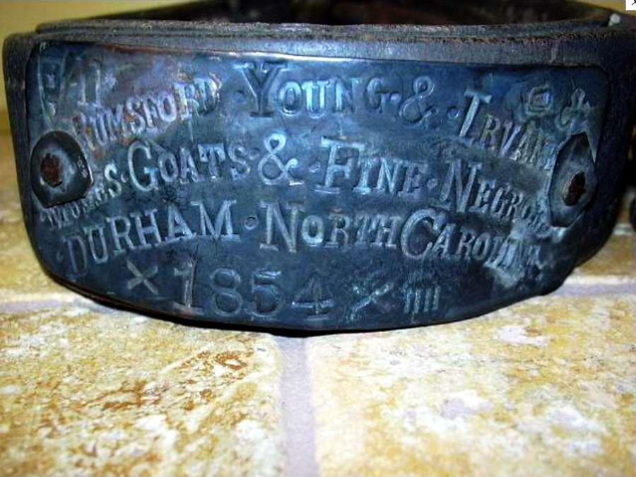 Еще один ошейник североамериканского раба, изготовленный в 1854 году (2)