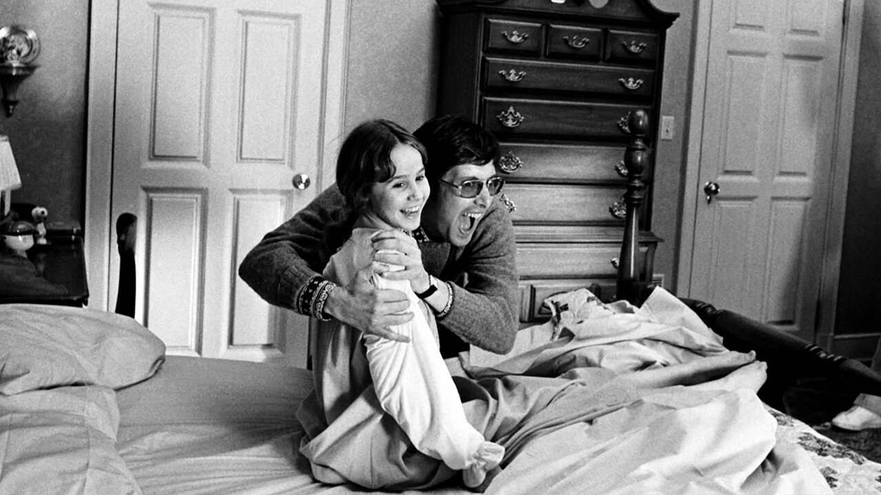 1973. Линда Блэр и Уильям Фридкин на съемках Экзорциста