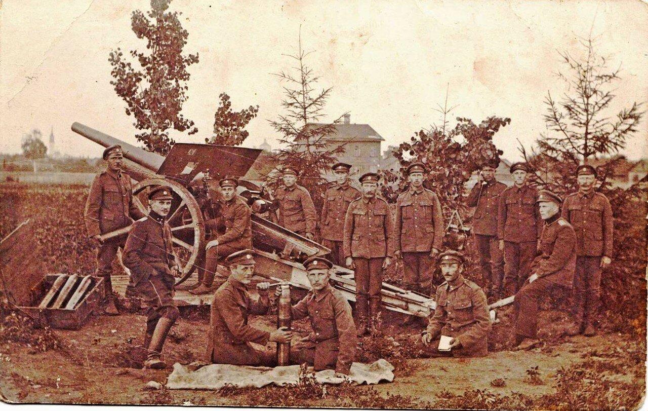 Германская артиллерия во время немецкой оккупации Нарвы