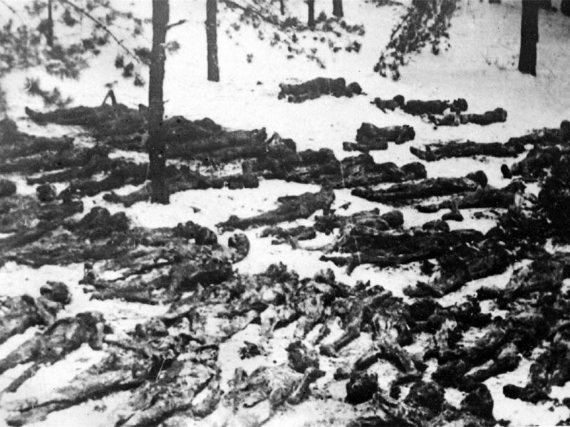 Трупы советских граждан на территории концлагеря в Дарнице