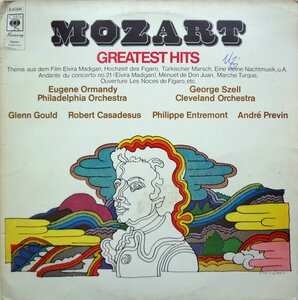 W.A. Mozart – Greatest Hits (1971) [CBS Harmony, S 30 006]