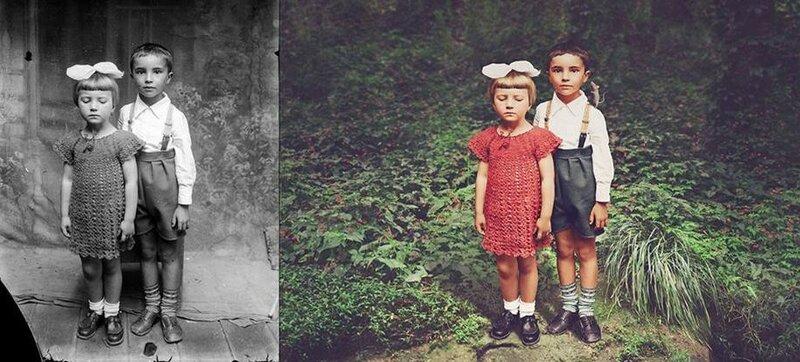 Даже спустя столько лет у девочки не появилось желания взглянуть в объектив